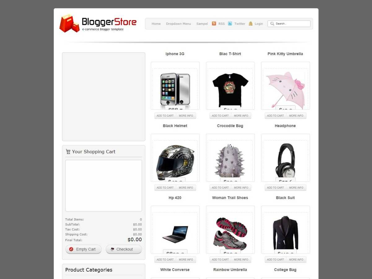 Blogger Store Ecommerce Blogs Template By Java Templates Blogr