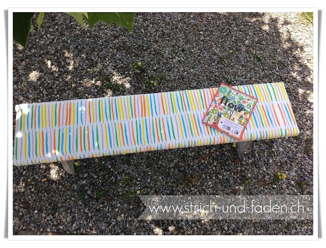 mit Strich und Faden | Upcycling Gartenbank