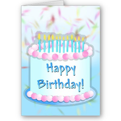 Free Cake Info: Download birthday greeting card