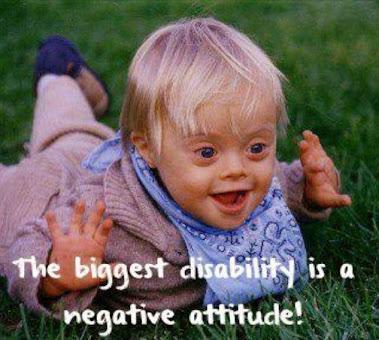 A legnagyobb fogyatékosság a negatív hozzáállás!