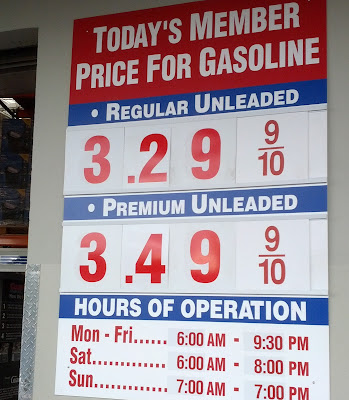 Costco gas for May 21, 2015 at Sunnyvale, CA