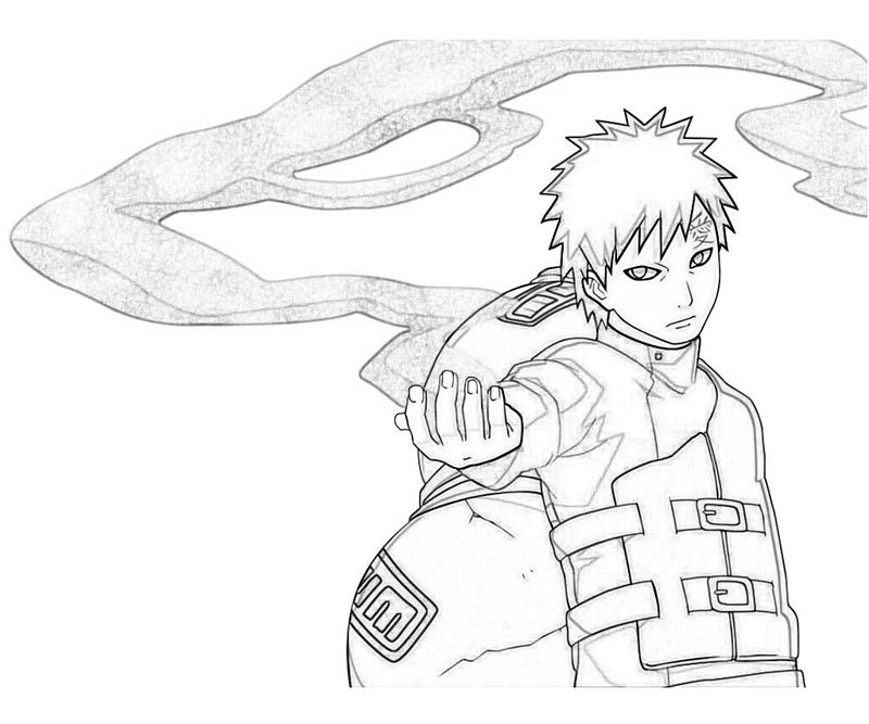 gaara coloring pages - photo#1