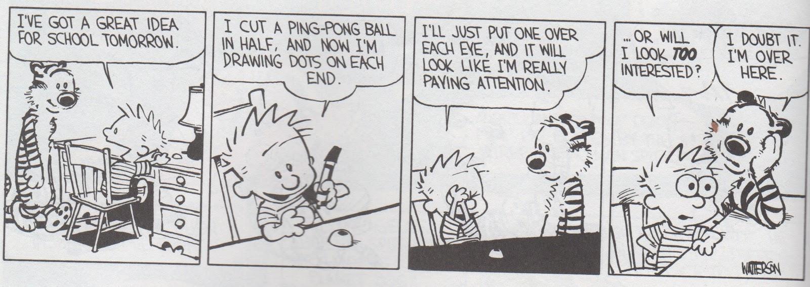 Calvin and hobbes comic strip widgets