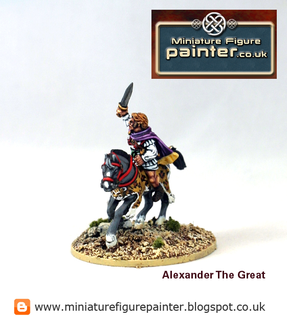 Alexander The Great, Foundry 28mm miniature. Painted by Miniature Figure Painter