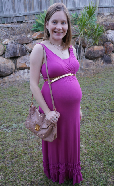 away from blue Third Trimester Pregnancy Maxi Dress Baby Shower Outfit
