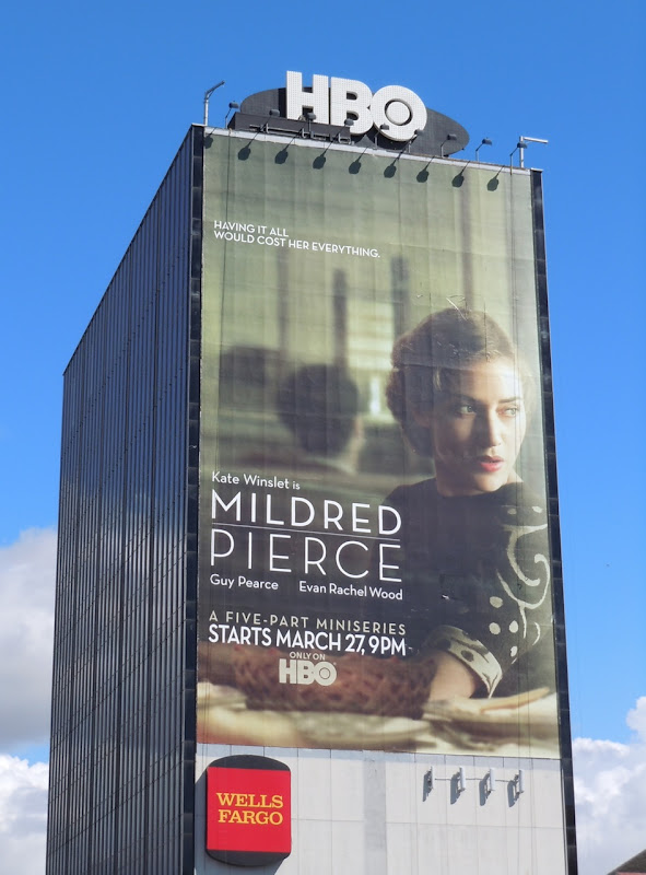 Giant Mildred Pierce TV billboard