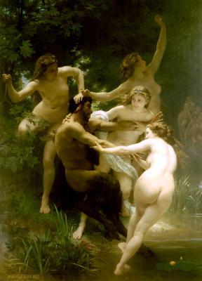 """""""Ninfas y Sátiro"""" (1873)"""