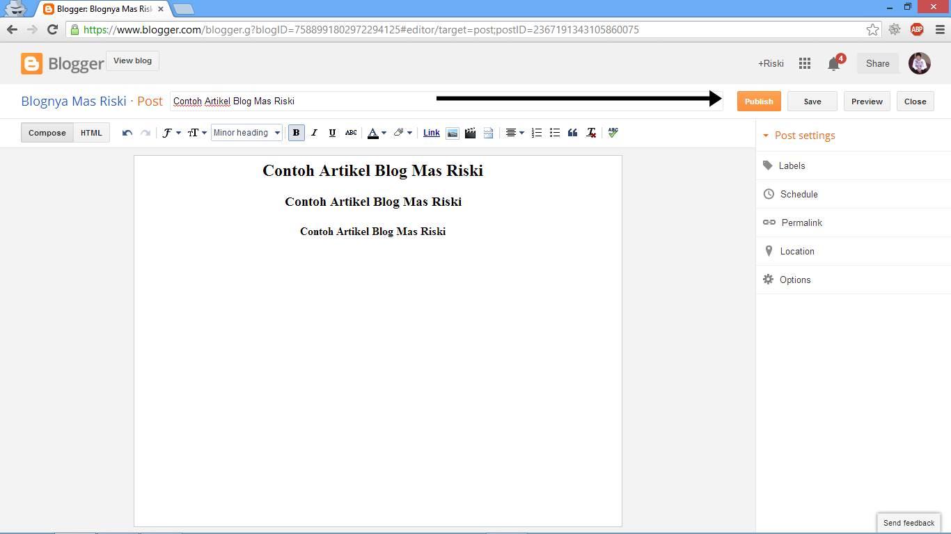 Cara Membuat Artikel di Blog 2