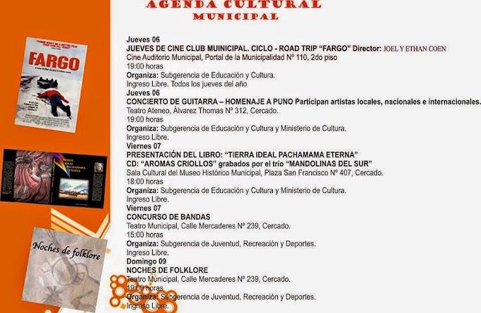 Agenda Cultural Municipal Arequipa - Noviembre y Diciembre