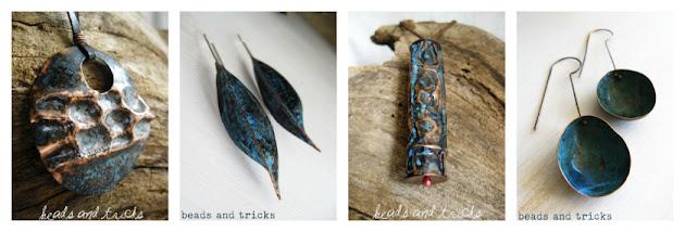 Creazioni in rame e patina blu 2012