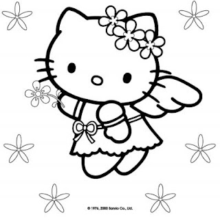 Coloring Picture Hello Kitty Cat