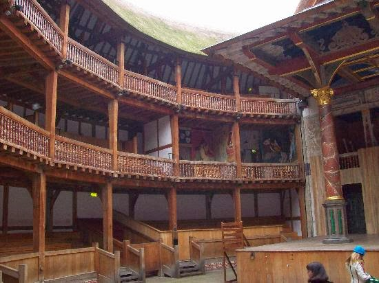 Interior del Teatro Shakespeare en Londres, Inglaterra