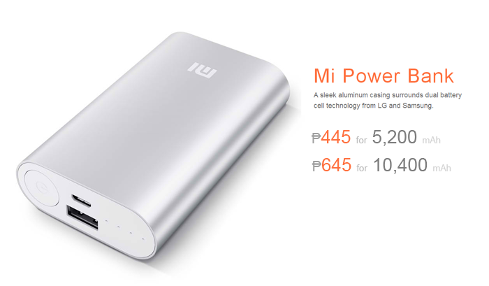 Xiaomi Offers 5200mAh Mi Powerbank for ₱445 and 10400mAh for ₱645 in the Philippines