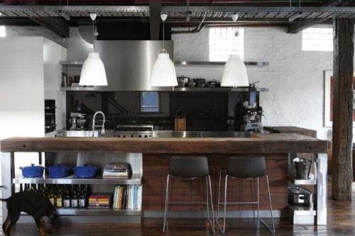 A 39 pallota inrustrial for Cocina industrial tipo loft