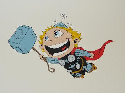 Thor mural