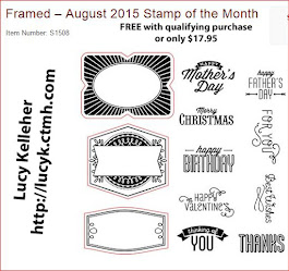 AUGUST STAMP OF THE MONTH - Framed