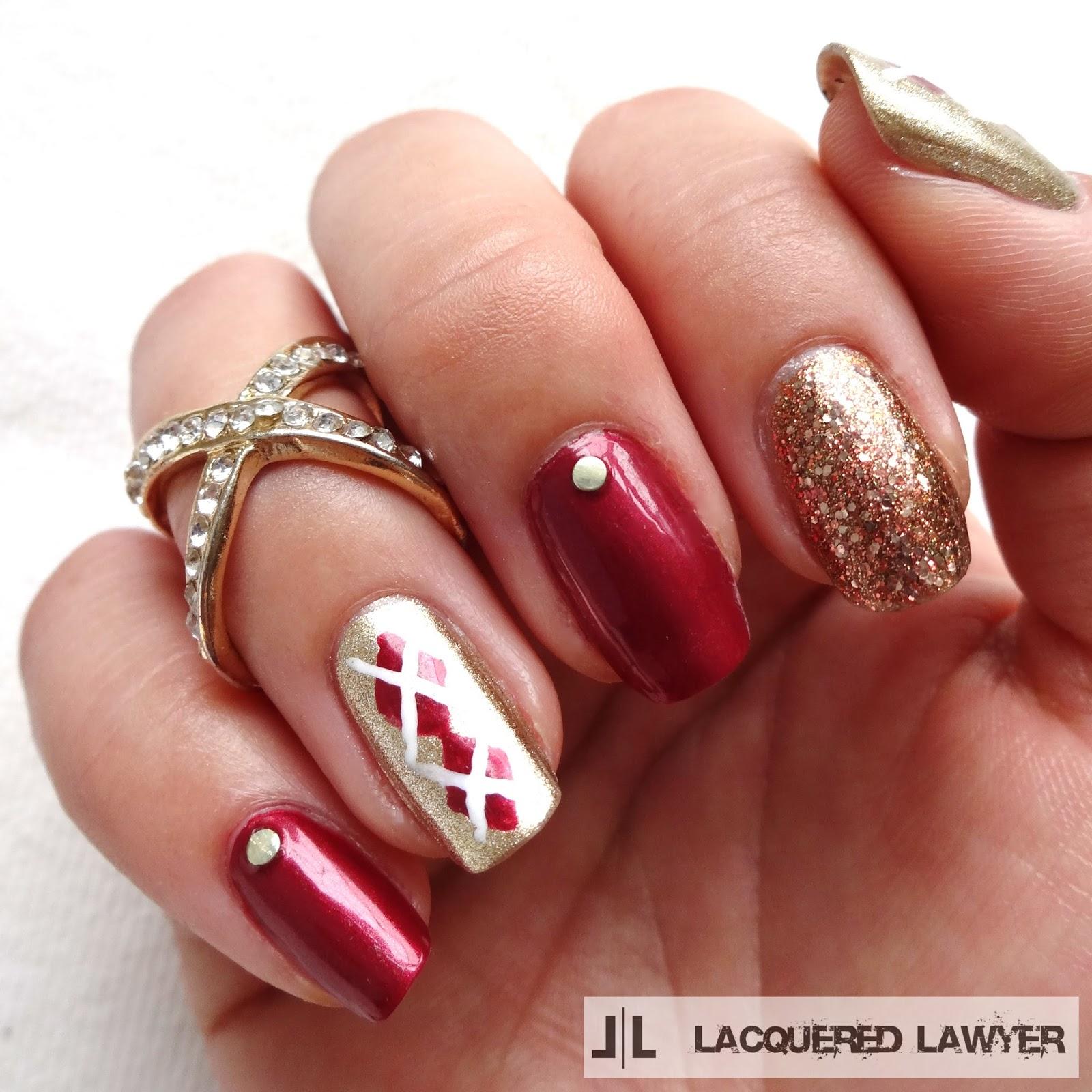 Autumn Argyle Nails