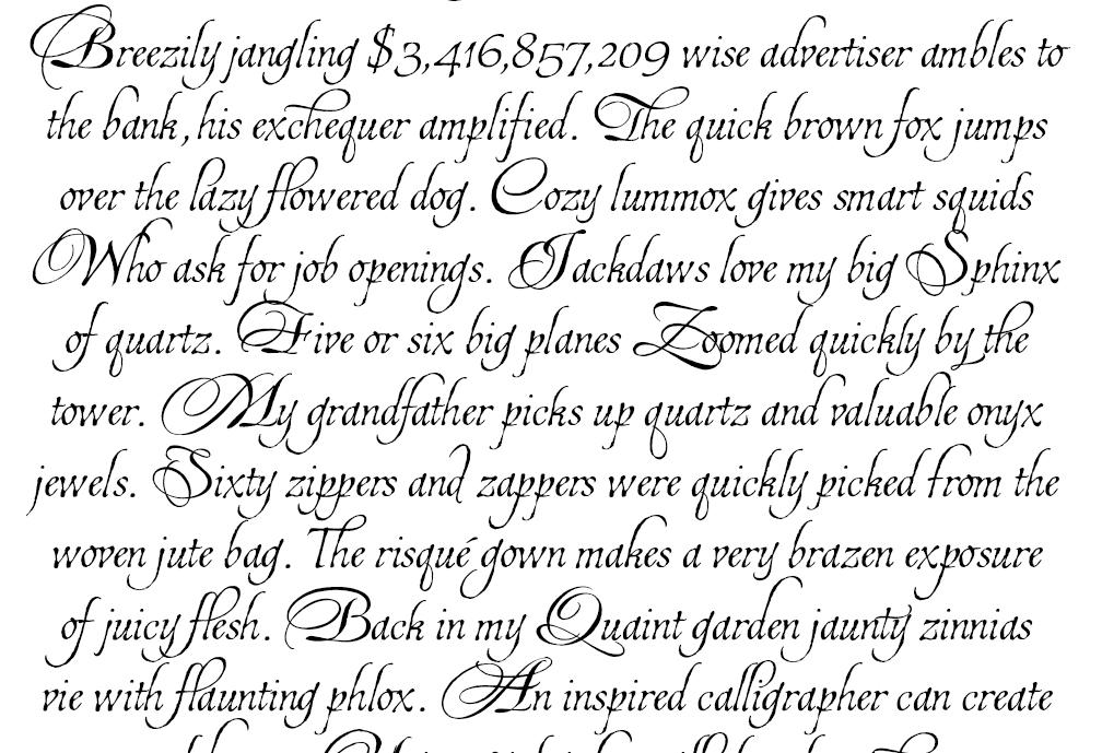 Calligraphy Alphabet 2013