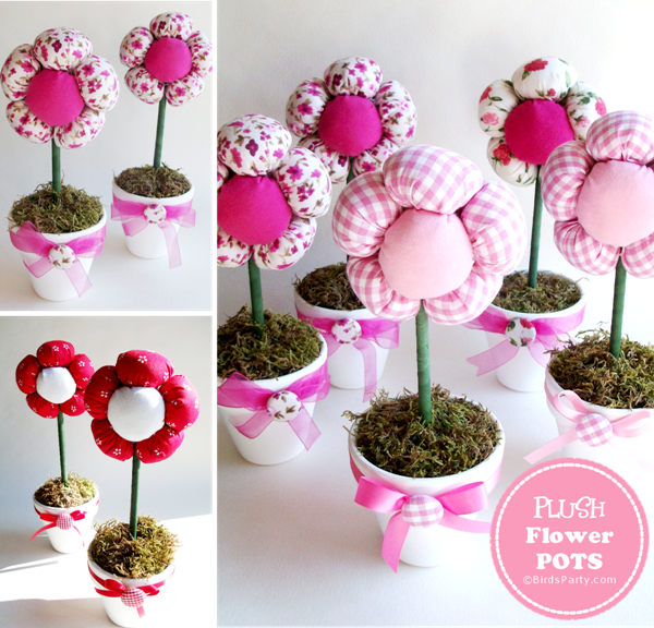 TUTORIAL: DIY Plush Flower Pots Centerpiece