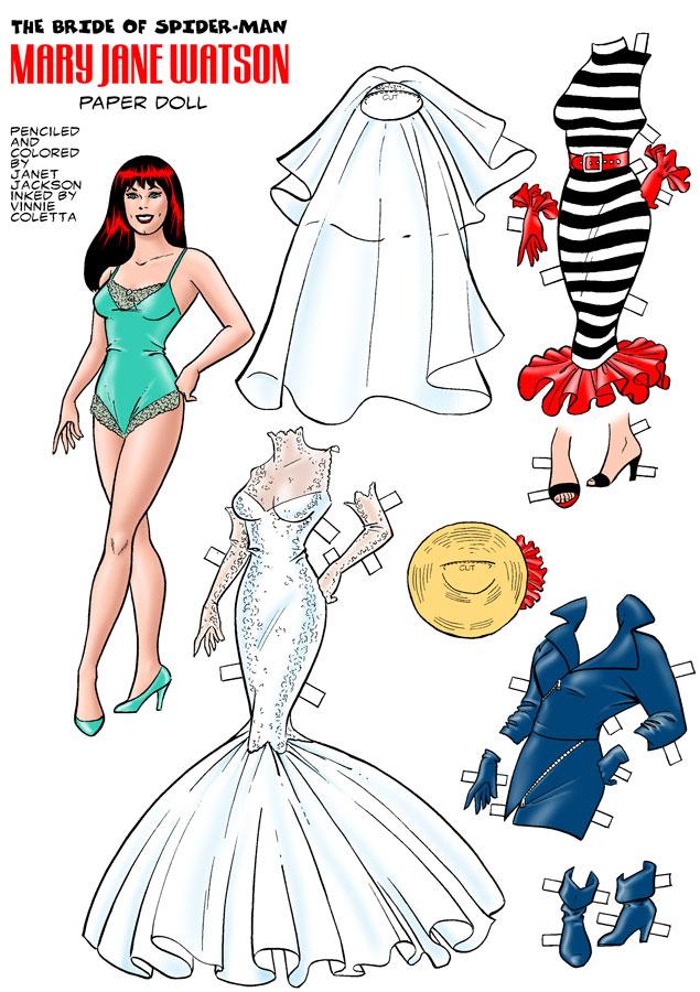 Quinn Christopher Jackson Comic Book Paper Doll ...