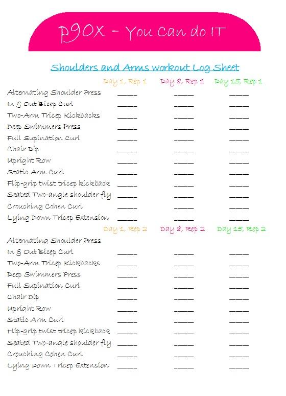 Similiar P90X Chest Shoulders Triceps Workout Sheet Keywords