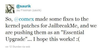 Essentielles Update für JailbreakMe 3.0