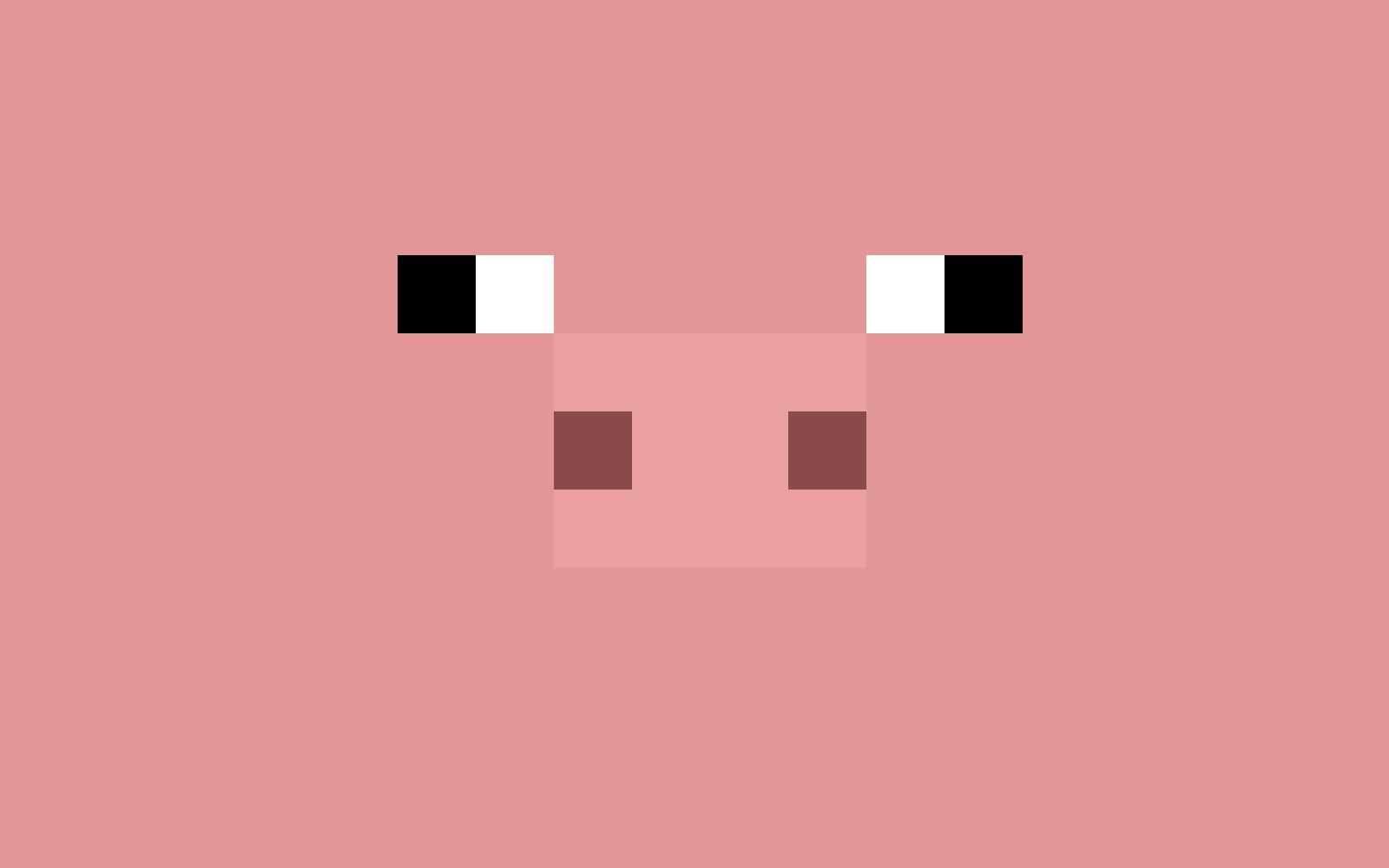 Minecraft Pig Face Minecraft Pig Wallpape...