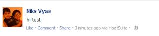 Facebook Status scheduler message