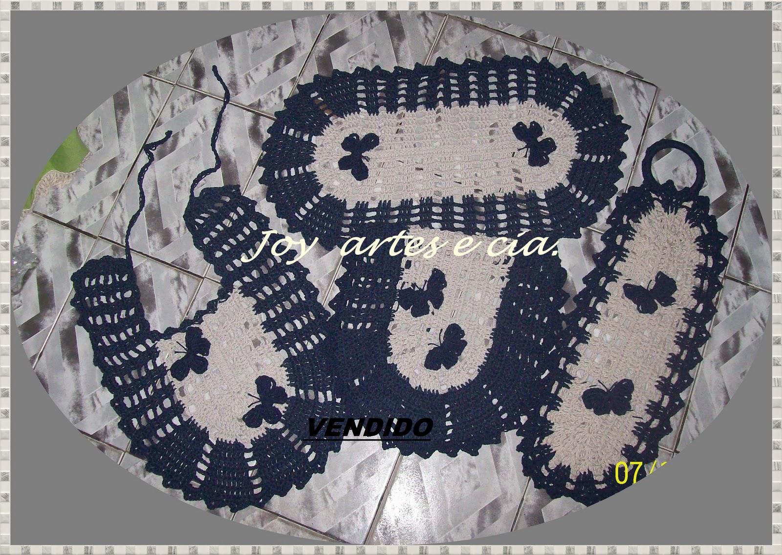 Joy Artes e Cia. : Jogo de Banheiro Cru e azul marinho com borboletas #6C7A48 1600 1135