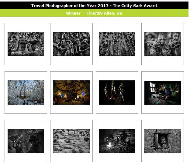 Travel Photographer of the Year 3013 - wyniki konkursu