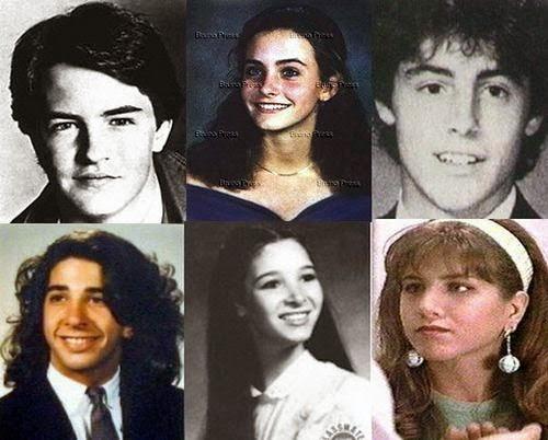 Así lucían los seis actores de Friends antes de saltar a la fama