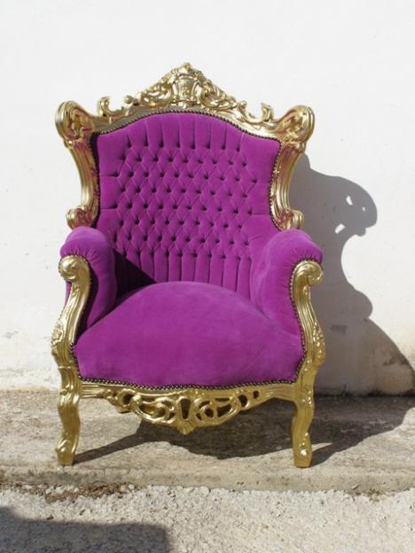 So glittering butac n luis xv - Muebles estilo barroco moderno ...