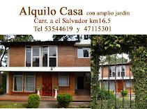 Alquiler de casa amplio jardin en carretra a el Salvador Km 16.5 cercano a centros de conveniencia,
