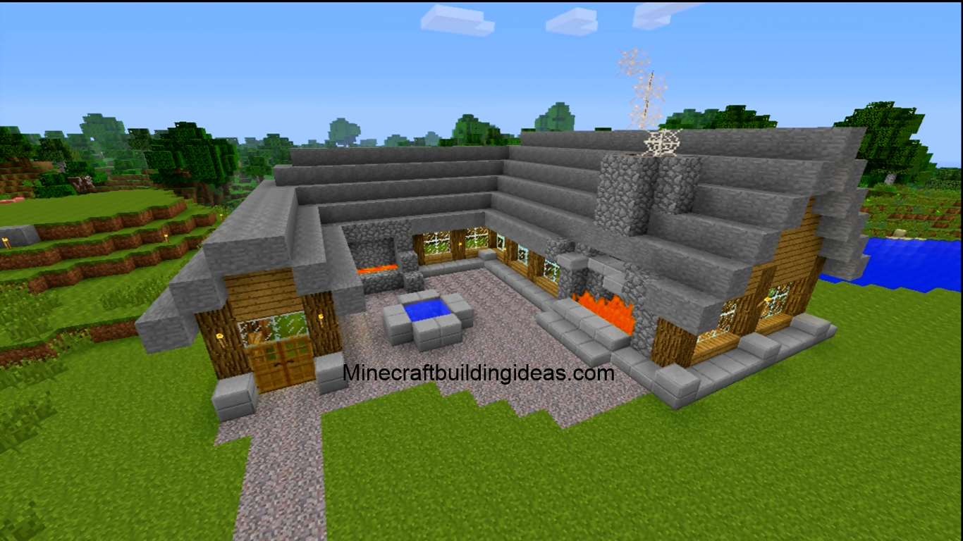 Minecraft building ideas blacksmith for Cool ideas for building a house