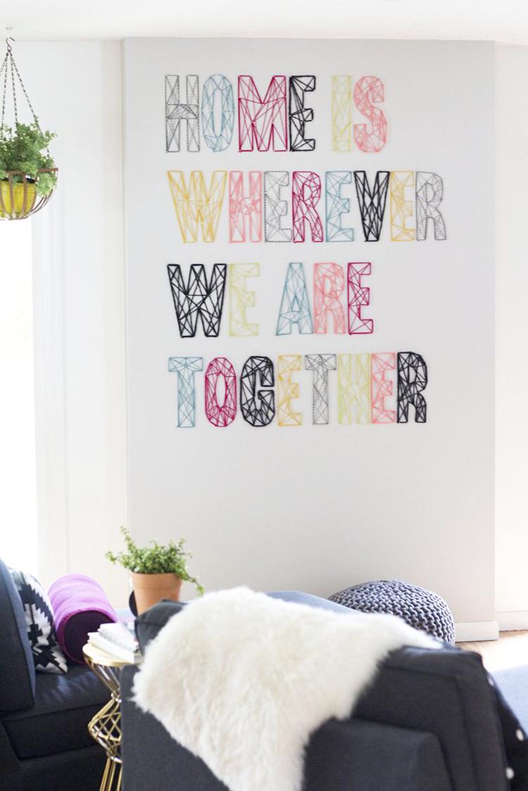 DIY Monday # Yarn Art
