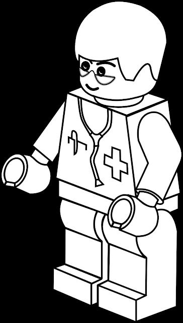 Desenho Médico de Lego para colorir