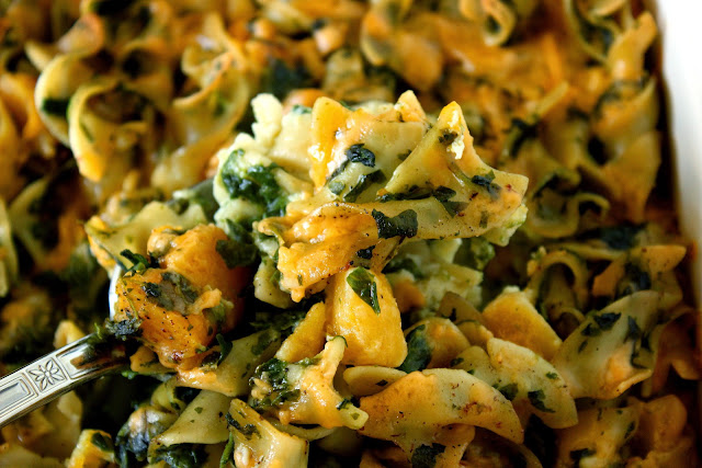 Spinach and Butternut Squash Noodle Casserole