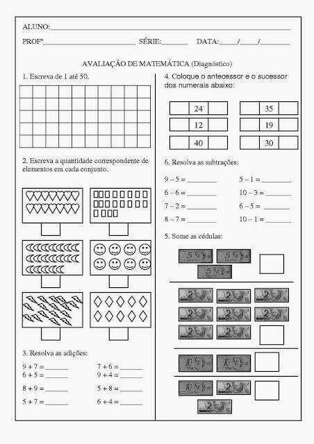 Atividade de matemática 2 ano fundamental