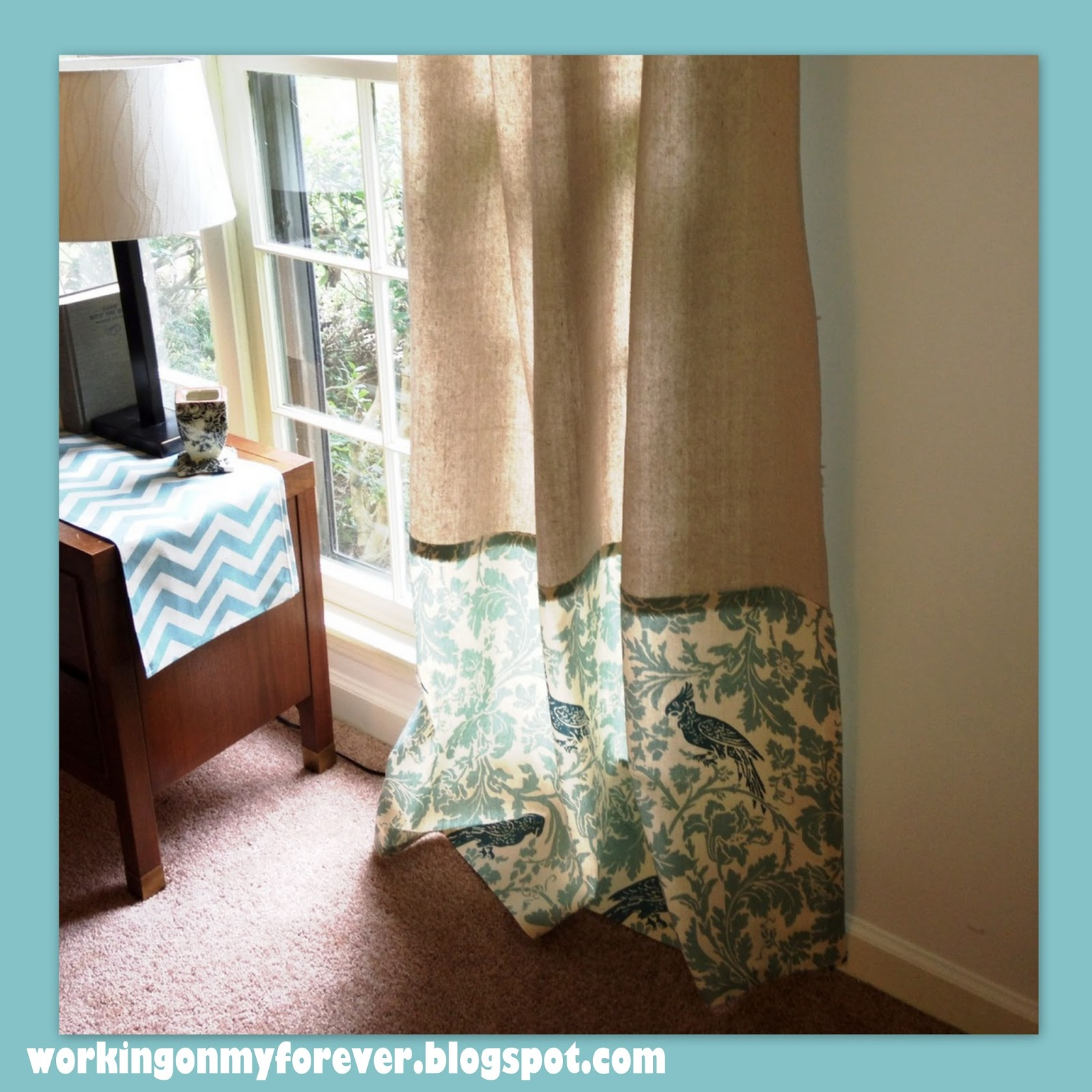 Working On My Forever No Sew Curtains On A Budget