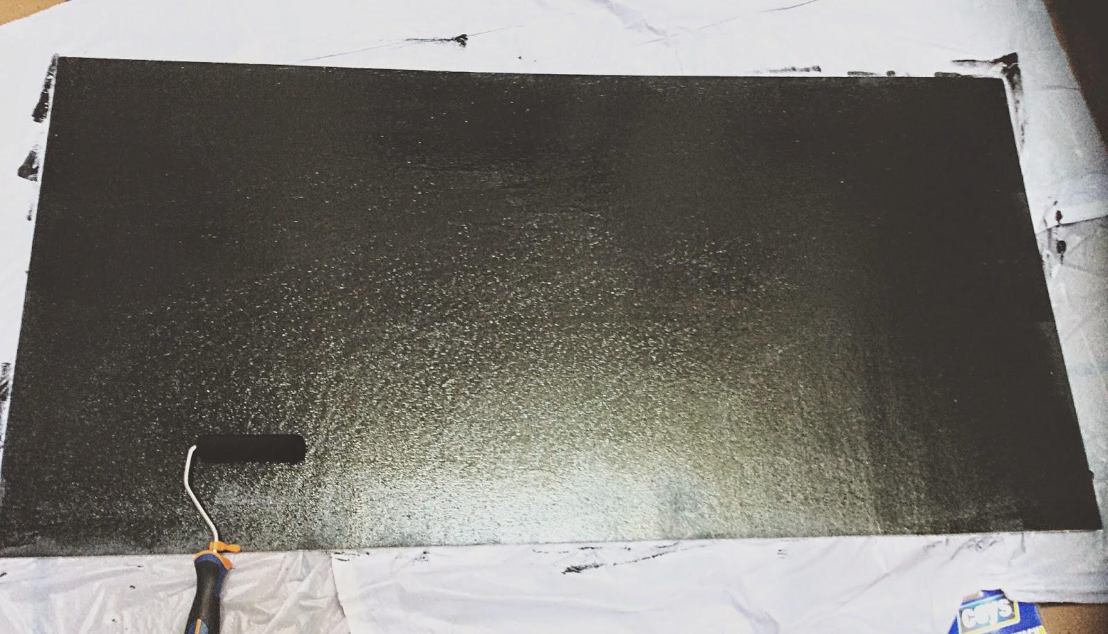 Pequefelicidad c mo fabricar una pizarra de exterior para for Como hacer el color gris para paredes