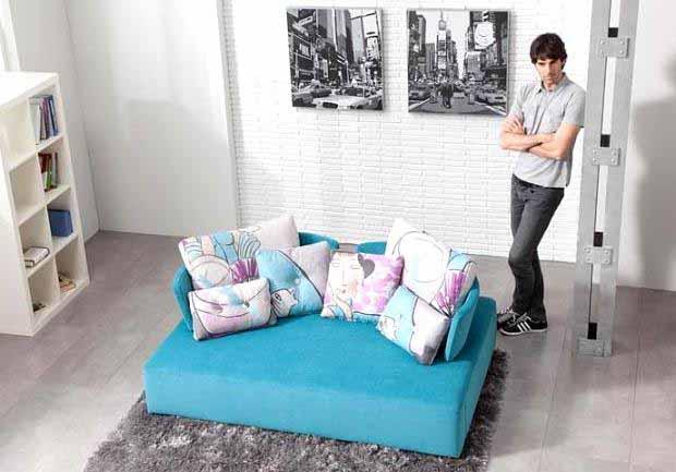 Chaise Sofa Furnitur Ruang Tamu Warna Warni