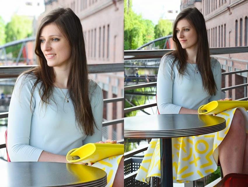 pastelowy żółty