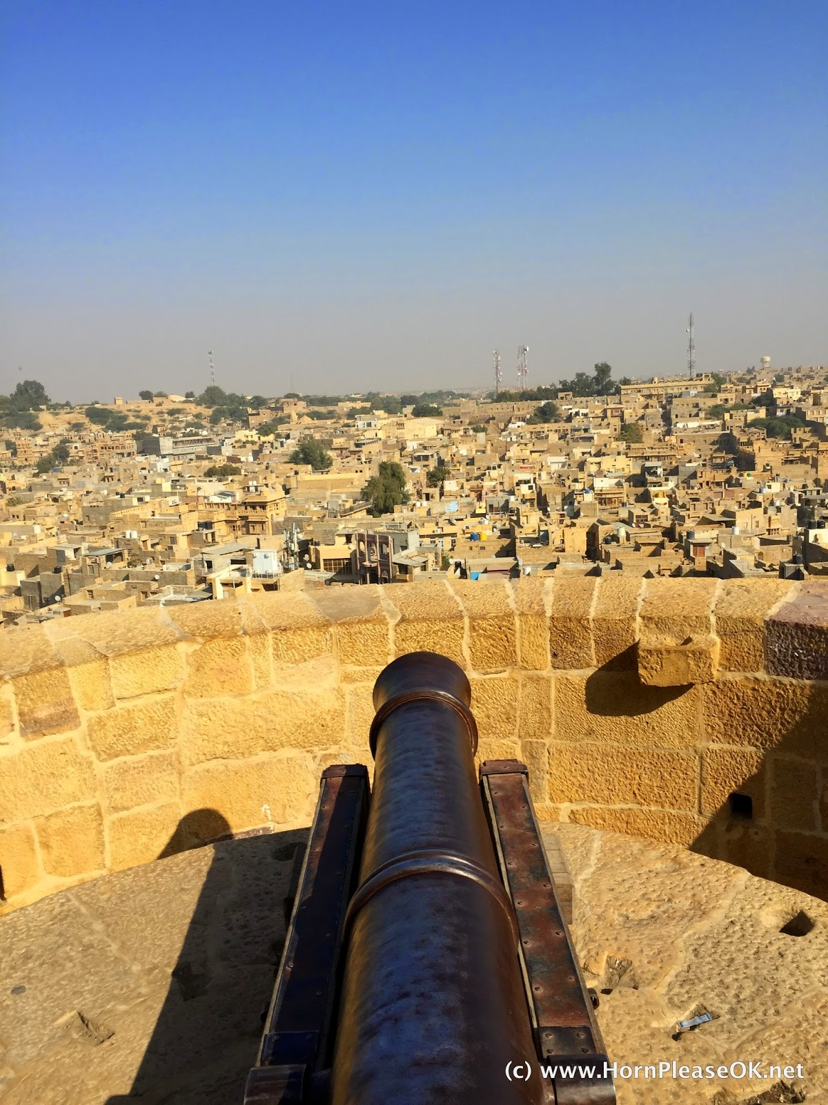 Canon point at Jaisalmer Fort