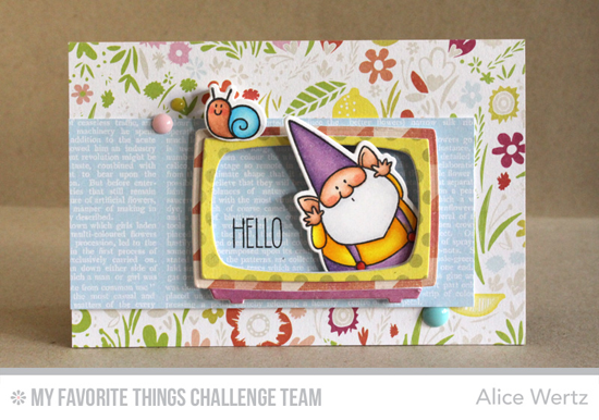 Gnome TV Star Card from Alice Wertz featuring the BB You Gnome Me stamp set and Die-namics and Television Die-namics.