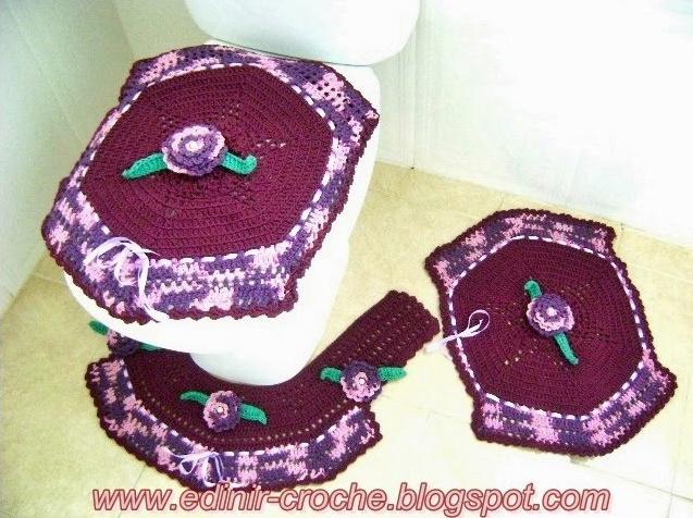 tapetes em croche com Edinir-Croche