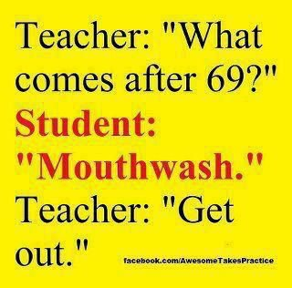 Teacher vs student joke image