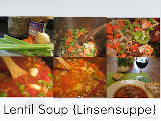 The Not So Cheesy Kitchen {Galactosemia in PDX}: Lentil Soup {Linsensuppe} for #SundaySupper & upcoming Food & Wine Conference
