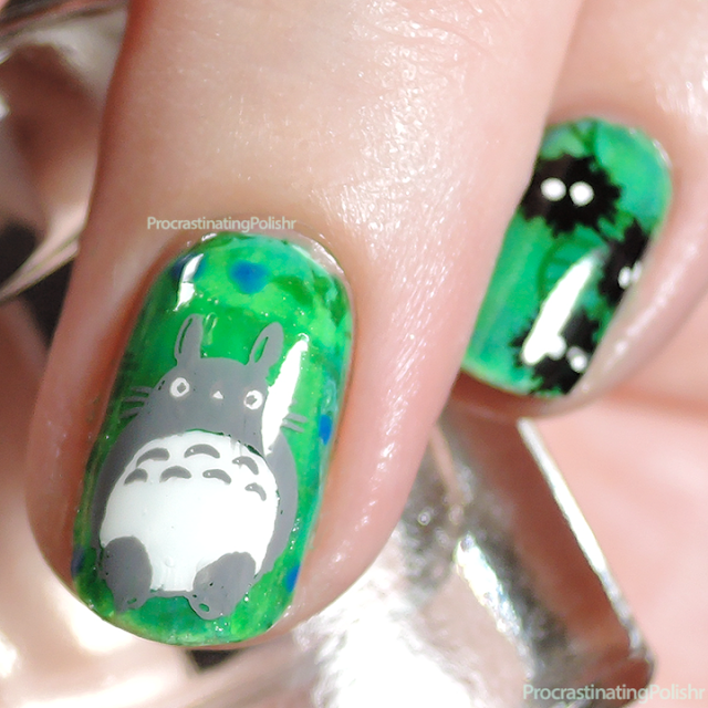 My Neighbour Totoro Nail Art