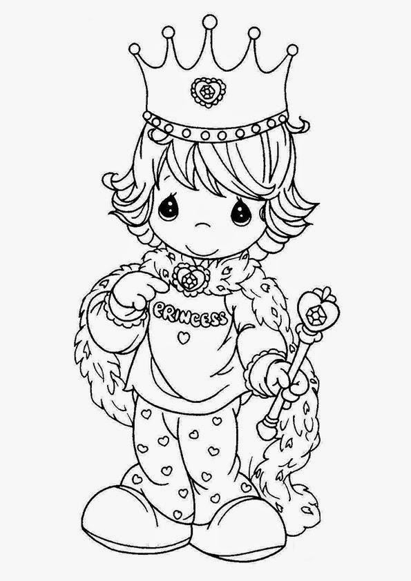 Portrait Dolls 7 Dibujos de princesas para imprimir y colorear