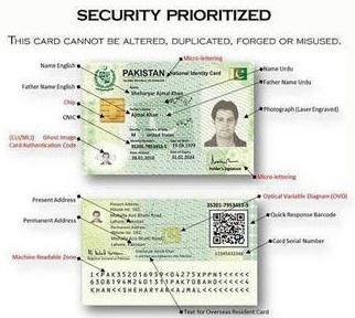 ID Card Pakistan tidak ada kolom agama